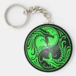 Yin Yang Drachen, Grün und Schwarzes Schlüsselbänder