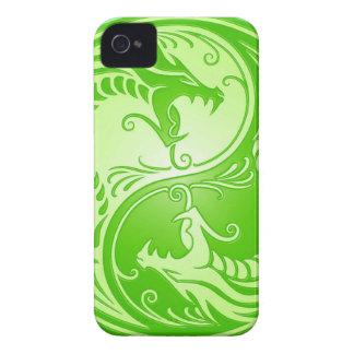 Yin Yang Drachen, hellgrün iPhone 4 Case-Mate Hülle