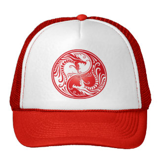 Yin Yang Drachen, rot Baseballmütze