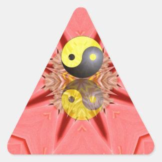 Yin Yang Dreiecks-Aufkleber