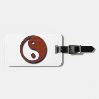 Yin Yang durch Shirley Taylor Gepäckanhänger