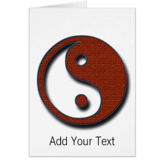 Yin Yang durch Shirley Taylor Karte