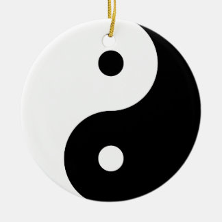 """YIN YANG"" (einseitig) Keramik Ornament"