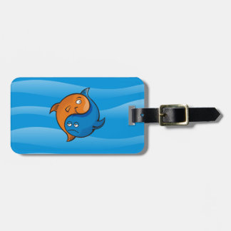 Yin Yang Fisch-Cartoon Gepäckanhänger