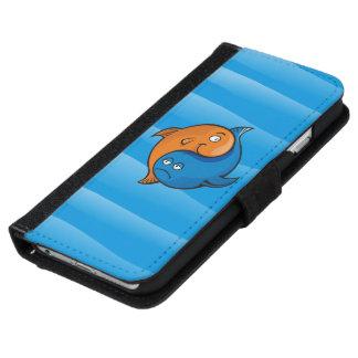 Yin Yang Fisch-Cartoon iPhone 6/6s Geldbeutel Hülle