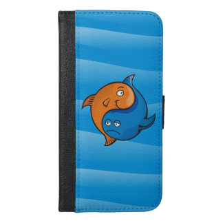 Yin Yang Fisch-Cartoon iPhone 6/6s Plus Geldbeutel Hülle