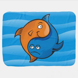 Yin Yang Fisch-Cartoon Kinderwagendecke
