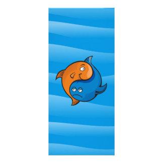 Yin Yang Fisch-Cartoon Werbekarte