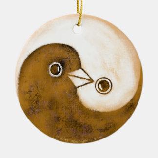 Yin Yang Friedenstauben-Keramikdekoration Keramik Ornament