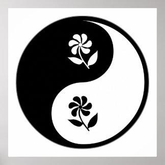 Yin Yang Gartenarbeit Plakate
