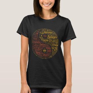 Yin Yang geistige Wort-Kunst T-Shirt