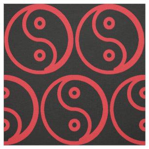 Yin-Yang Meterware Stoff Dreifache kreisförmige Form