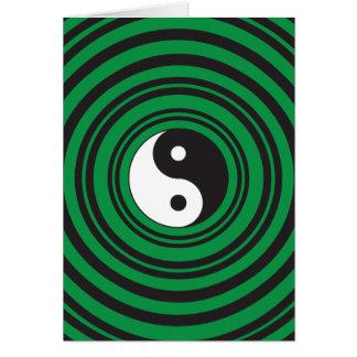 Yin Yang grüne konzentrische Karte