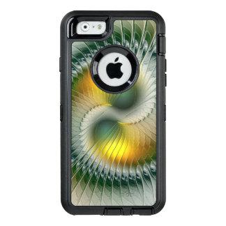 Yin Yang grünes gelbes abstraktes buntes Fraktal OtterBox iPhone 6/6s Hülle
