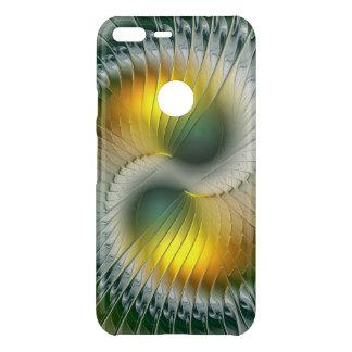 Yin Yang grünes gelbes abstraktes buntes Fraktal Uncommon Google Pixel XL Hülle