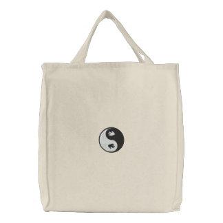 Yin Yang Handdrucke gestickte Tasche