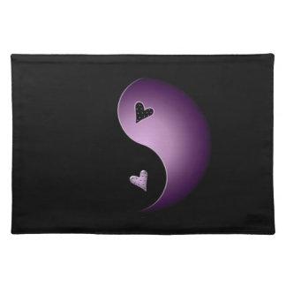 yin Yang-Herz - lila Tischset