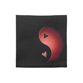 yin Yang-Herz - Rot Stoffserviette