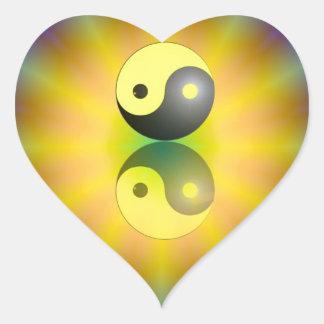 Yin Yang Herz Sticker
