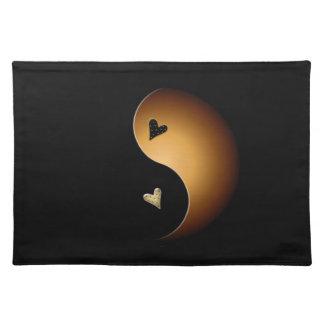 yin Yang-Herz - Toffee Tischset