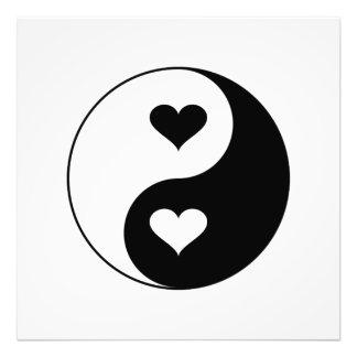 Yin Yang Herzen Fotodruck