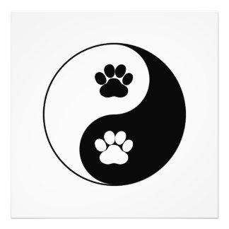 Yin Yang Hundetatze Fotodruck