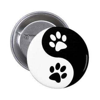 Yin Yang Hundetatzen Buttons
