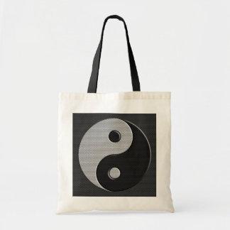 Yin Yang in der Kohlenstoff-Faser-Druck-Art Tragetasche