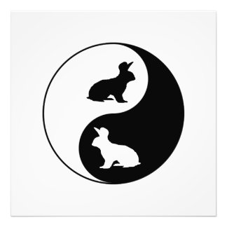 Yin Yang Kaninchen Fotodruck