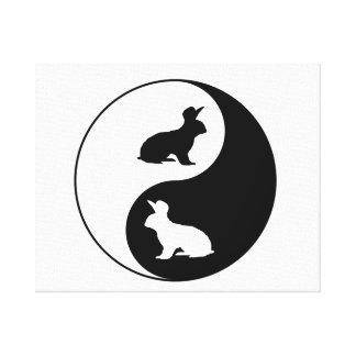 Yin Yang Kaninchen Leinwanddruck