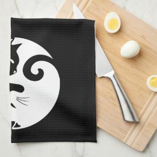 Yin Yang Kätzchen Küchentuch