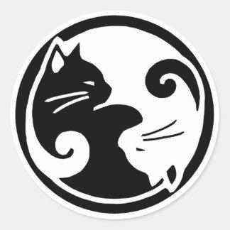 Yin Yang Katzen-Aufkleber