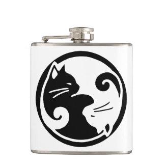Yin Yang Katzen-Flasche Flachmann