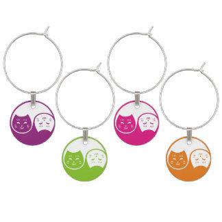 Yin Yang Katzen in den fruchtigen Farben Glasmarker