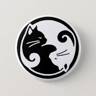 Yin Yang Katzen-Knopf Runder Button 5,1 Cm