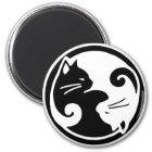 Yin Yang Katzen Runder Magnet 5,7 Cm
