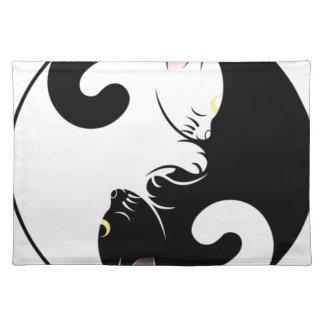 Yin Yang Katzen Tischset