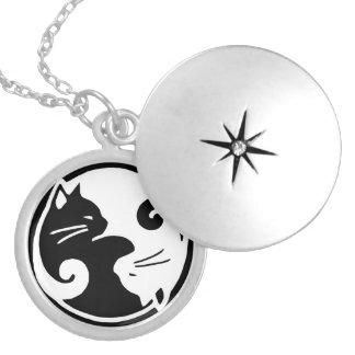 Yin Yang KatzenLocket Medaillon