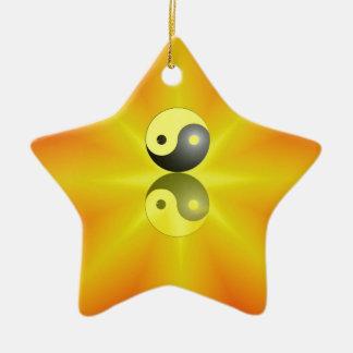Yin Yang Keramik Stern-Ornament