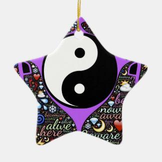 Yin, Yang Keramik Stern-Ornament