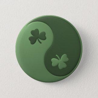 Yin Yang Kleeblätter Runder Button 5,1 Cm