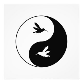 Yin Yang Kolibris Fotodruck