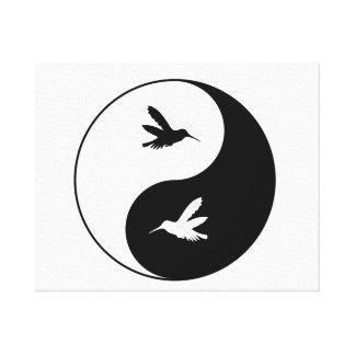 Yin Yang Kolibris Leinwanddruck