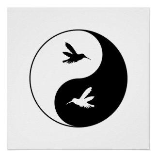 Yin Yang Kolibris Poster