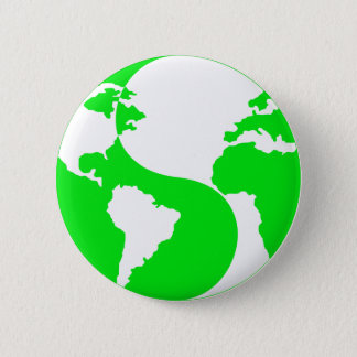 Yin Yang Kugel Runder Button 5,7 Cm