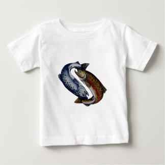 Yin Yang Lachs-Fische Baby T-shirt