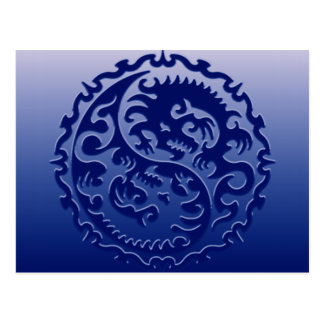 Yin Yang magische Drachen Postkarte