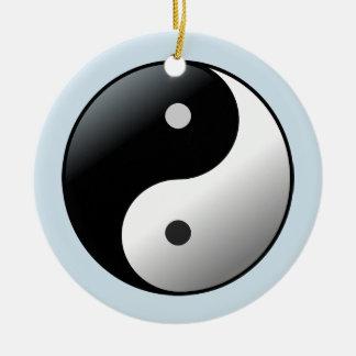 Yin Yang Mandala-Yoga-Kreis Keramik Ornament