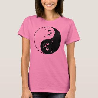 Yin Yang Miezekatze-Katze T-Shirt