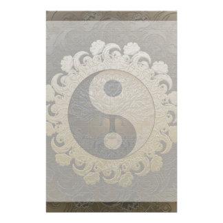 Yin Yang mit Baum des Lebens durch Amelia Carrie Druckpapiere